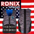 2017 ウェイクボード ライフジャケット RONIX ロニックス Kinetik Paks Edition Impact Jacket Black/Grey