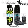 HYPERLITE ハイパーライト 2016 ウェイクボード セット Marek 140cm+Team CT US:9-10