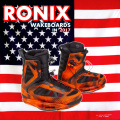 2017 ウェイクボード ブーツ RONIX ロニックス Parks Boot Electric Orange