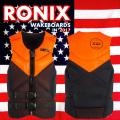 2017 ウェイクボード ライフジャケット RONIX ロニックス Paks Capella Life Vest Black/Orange