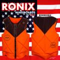 2017 ウェイクボード ライフジャケット RONIX ロニックス Parks Athletic Cut Impact Jacket Black/Orange