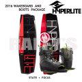 HYPERLITE ハイパーライト 2016 ウェイクボード セット State 2.0 135cm+Focus Boots 7-10.5