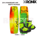 RONIX ロニックス 2016 ウェイクボード 子供用セット Vision 120cm+Vision Boot US2-6