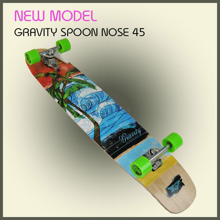 GRAVITY グラビティ  スケートボード Spoon Nose 45 スラスター3搭載!/gravity/スケートボード/ロンスケ