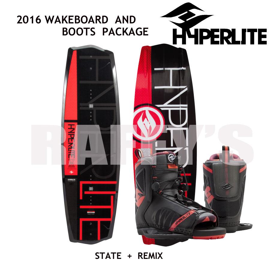 HYPERLITE ハイパーライト 2016 ウェイクボード セット State 2.0 130cm+Remix Boots US:4-8