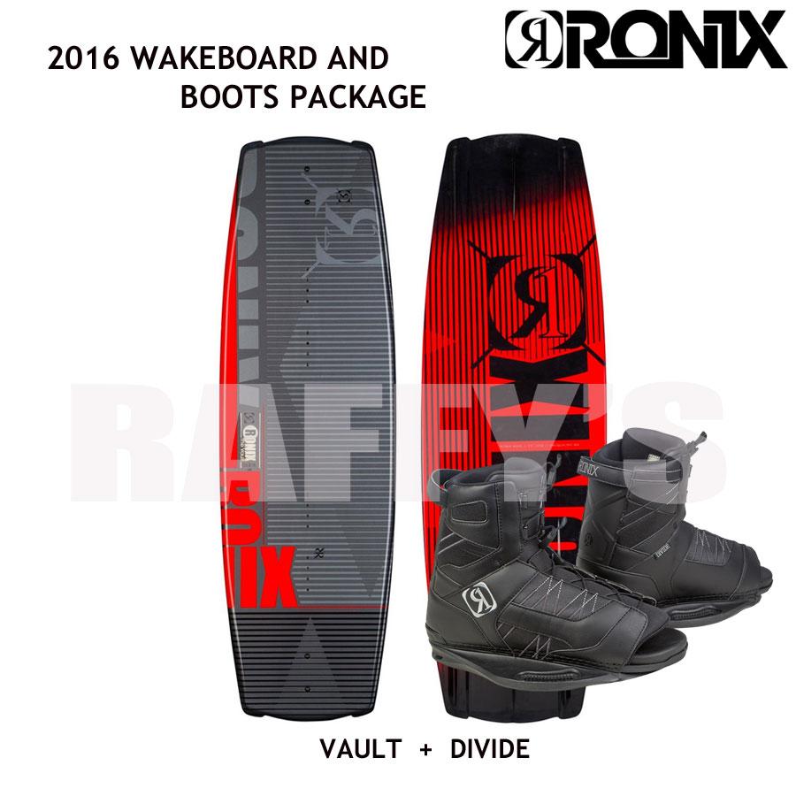 RONIX ロニックス 2016 ウェイクボード セット Vault ヴォルト 134cm+Divide Boot US:7.5-11.5