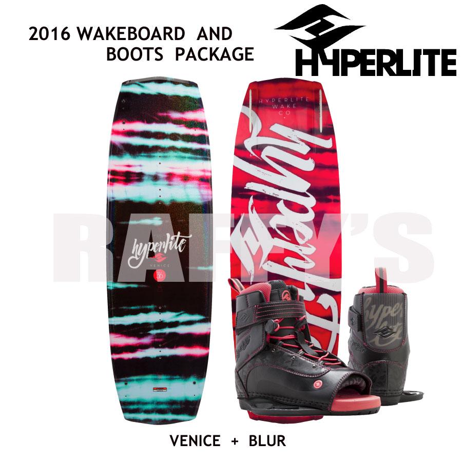 HYPERLITE ハイパーライト 2016 ウェイクボード レディース セット Venice 131cm+Blur Boots US:4-8.5