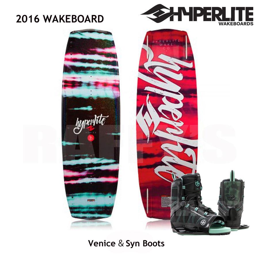 HYPERLITE ハイパーライト 2016 ウェイクボード レディース セット Venice 131cm+Syn Boots US:4-8.5