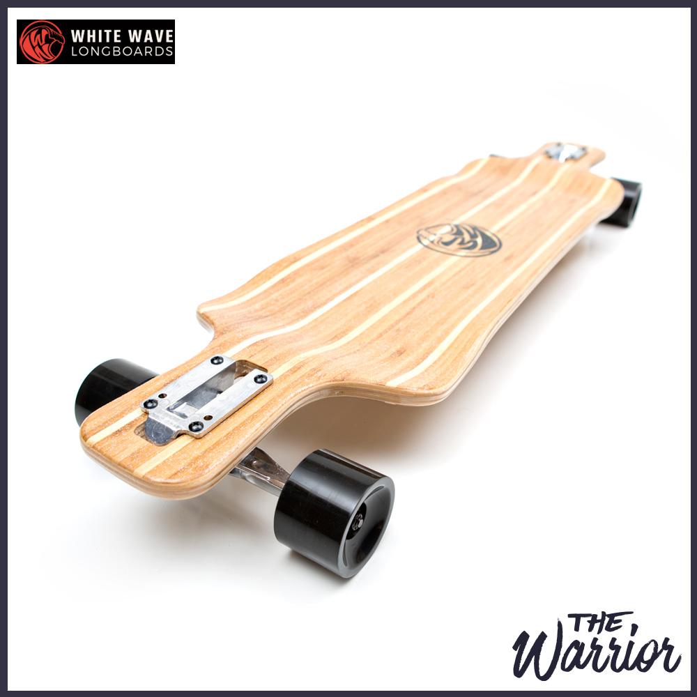 WHITE WAVE ロングスケートボード WARRIOR 38インチ ロンスケ コンプリート  ホワイト ウェーブ ロングボーズ