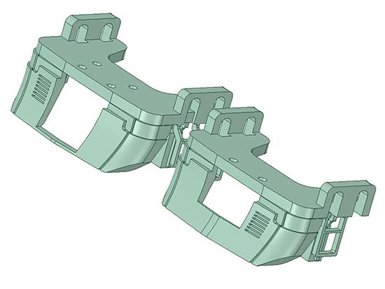 レールクラフト阿波座 名鉄新型スカート【1】(2200系用)[RCA-3DP01]