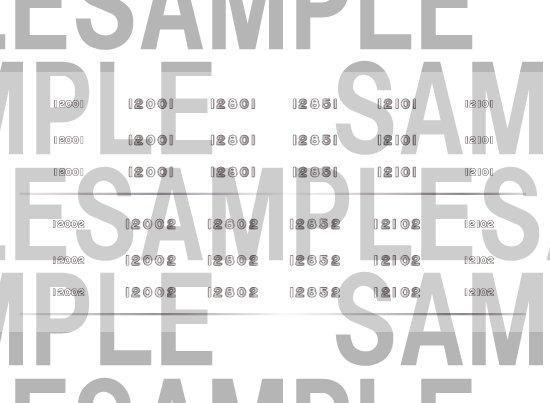 レールクラフト阿波座 南海12000系サザンプレミアム 車番インレタ(鉄コレ用)[RCA-IN101]