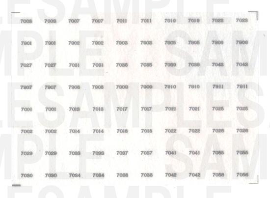 レールクラフト阿波座 南海7000系 車番【3】(鉄コレ・前面用)[RCA-IN16]