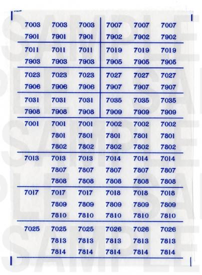 レールクラフト阿波座 南海7000系 車番【4】(鉄コレ・新色用)[RCA-IN17]