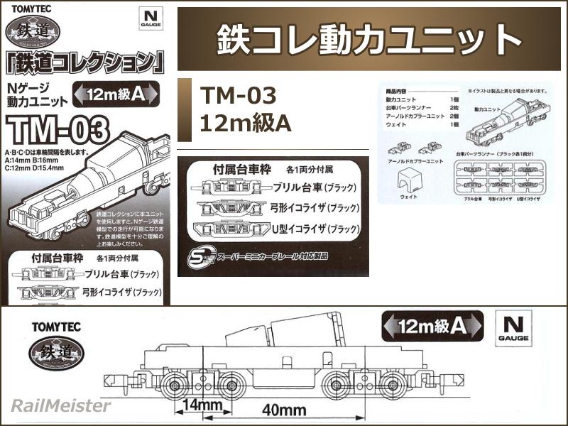 トミーテック 鉄道コレクション 動力ユニット 12m級[TM-03]