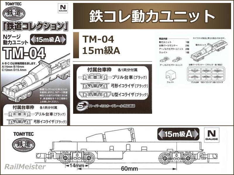 トミーテック 鉄道コレクション 動力ユニット 15m級[TM-04]