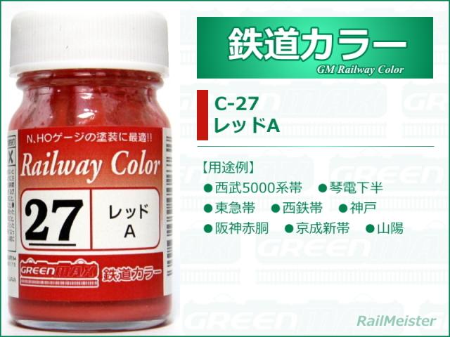 グリーンマックス 鉄道カラー27 レッドA[C-27]