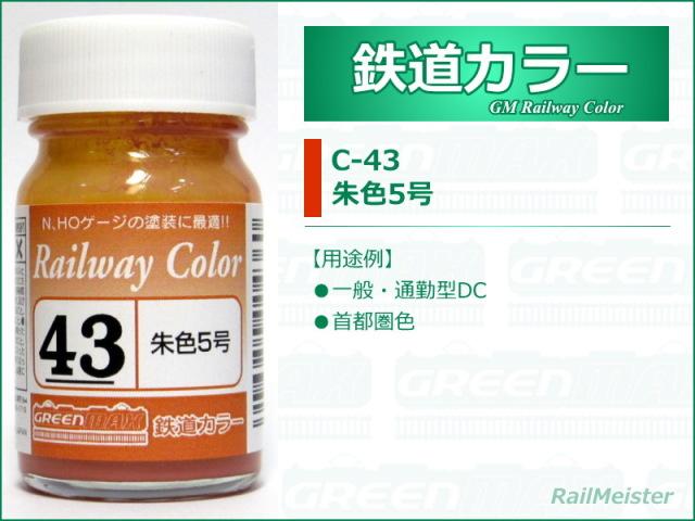 グリーンマックス 鉄道カラー43 朱色5号[C-43]