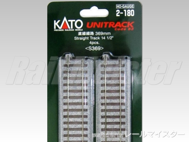 KATO 直線線路369mm(S369) 4本入[2-180]
