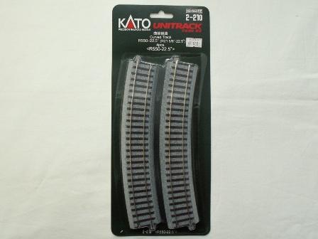 KATO 曲線線路R550-22.5°(R550-22.5) 4本入[2-210]