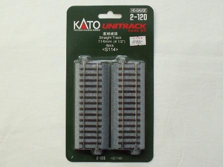 KATO 直線線路114mm(S114) 4本入[2-120]