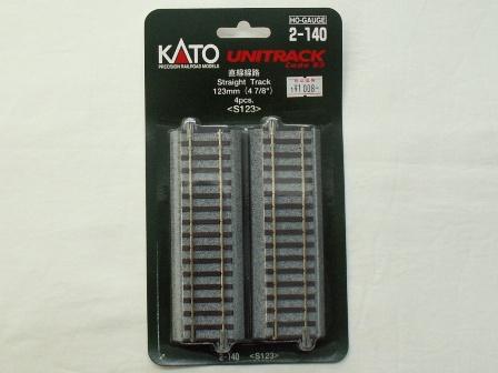 KATO 直線線路123mm(S123) 4本入[2-140]