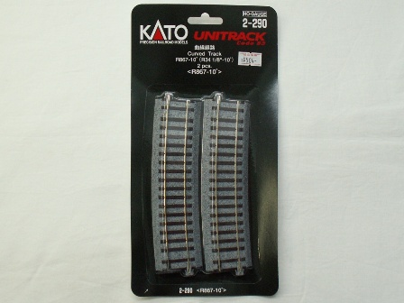 KATO 曲線線路R867-10°(R867-10) 2本入[2-290]