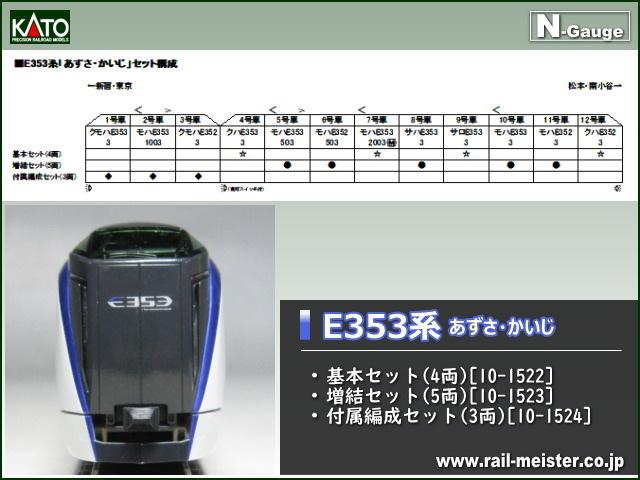 KATO E353系 あずさ・かいじ 基本セット(4両)[10-1522]