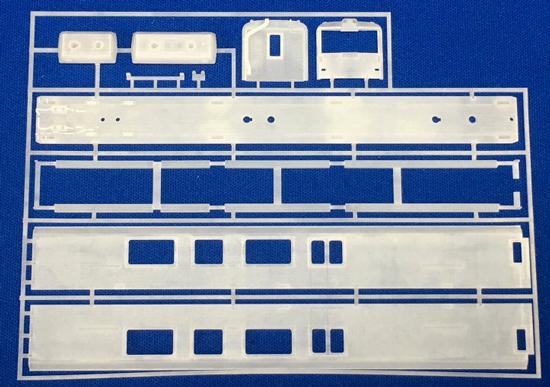 レールクラフト阿波座 近鉄24系はかるくん ボディキット 2両セット[RCA-3DK02]