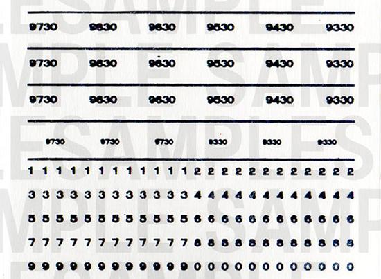 レールクラフト阿波座 近鉄「9830F」用車番(RCA-D06用、せんとくん・大和路ライナー)[RCA-IN04]