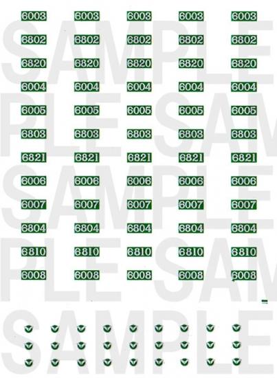 レールクラフト阿波座 南海6000系 車番【1】(鉄コレ・旧色2次車用)[RCA-IN06]