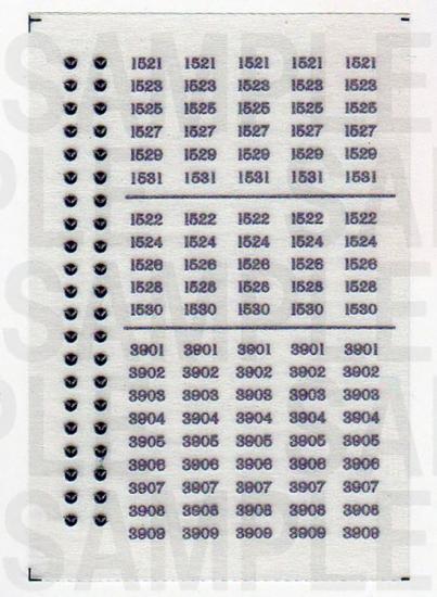 レールクラフト阿波座 南海1521系 車番インレタ[RCA-IN10]