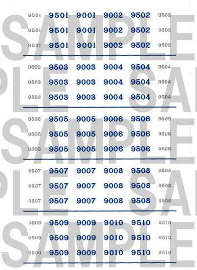 レールクラフト阿波座 南海9000系 車番【1】(鉄コレ・現行色4連用)[RCA-IN103]