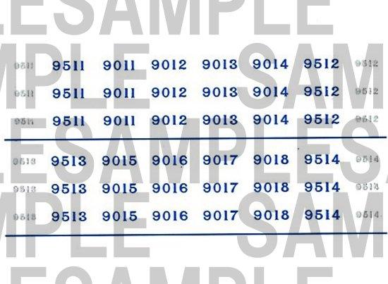 レールクラフト阿波座 南海9000系 車番【2】(鉄コレ・現行色6連用)[RCA-IN104]