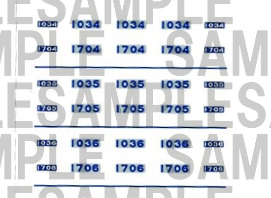 レールクラフト阿波座 南海1000系 車番【1】(鉄コレ・幅広車2連用)[RCA-IN105]