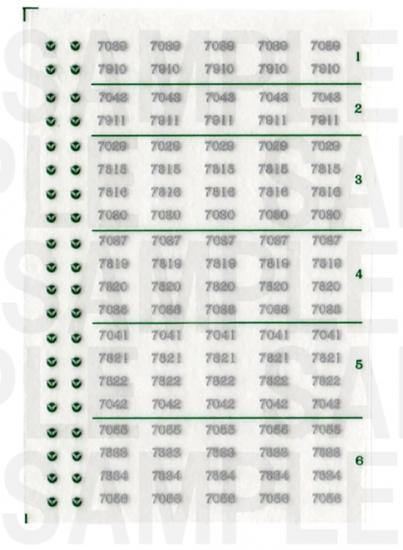 レールクラフト阿波座 南海7000系 車番【2】(鉄コレ・旧色用)[RCA-IN15]