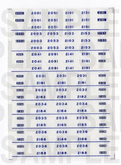 レールクラフト阿波座 南海2000系 車番【1】(MA・新塗装用)[RCA-IN21]