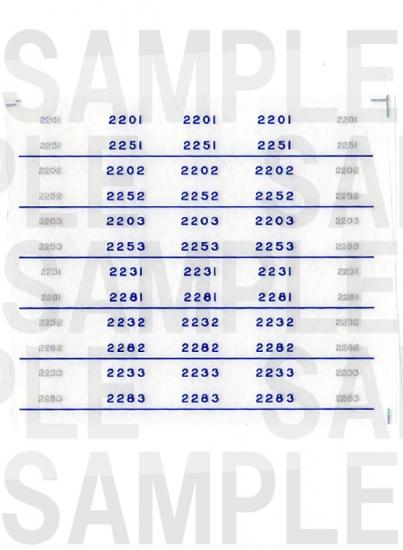 レールクラフト阿波座 南海2200/2230系 車番(鉄コレ用)[RCA-IN24]