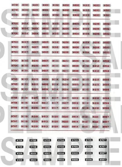 レールクラフト阿波座 相鉄9000系車番インレタ【2】(鉄コレ・旧塗装用)[RCA-IN42]