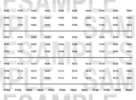 レールクラフト阿波座 相鉄9000系車番インレタ【3】(鉄コレ・リニューアル車用)[RCA-IN43]