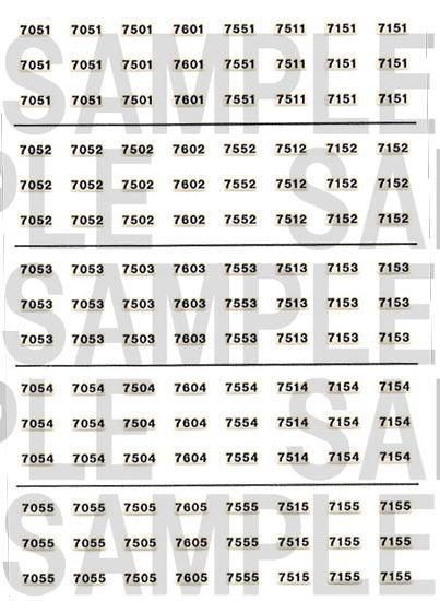 レールクラフト阿波座 北神急行7000系車番(鉄コレ用)[RCA-IN83]