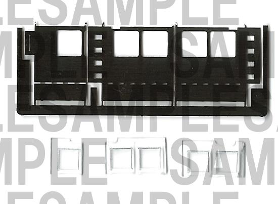 レールクラフト阿波座 穴あけ治具【1】+窓ガラスセット[RCA-P014S]