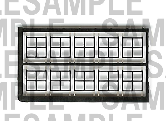 レールクラフト阿波座 近鉄クーラーパーツセット【3】(GM5200系他用、田字パーツのみ)[RCA-P038]