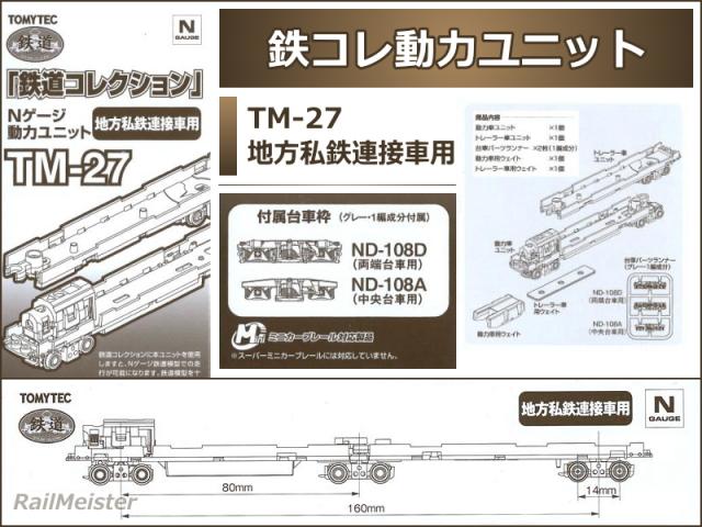 トミーテック 鉄道コレクション 動力ユニット 地方私鉄連接車用[TM-27]