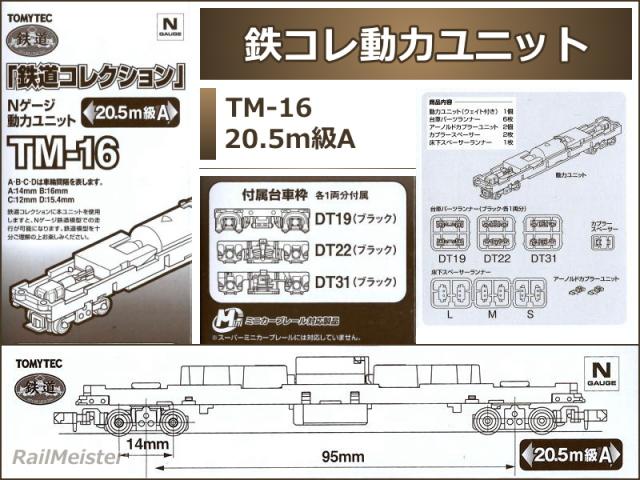 トミーテック 鉄道コレクション 動力ユニット 20.5m級A[TM-16]