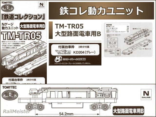 トミーテック 鉄道コレクション 動力ユニット 大型路面電車用B[TM-TR05]