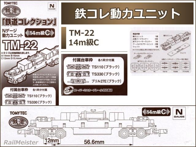 トミーテック 鉄道コレクション 動力ユニット 14m級C[TM-22]