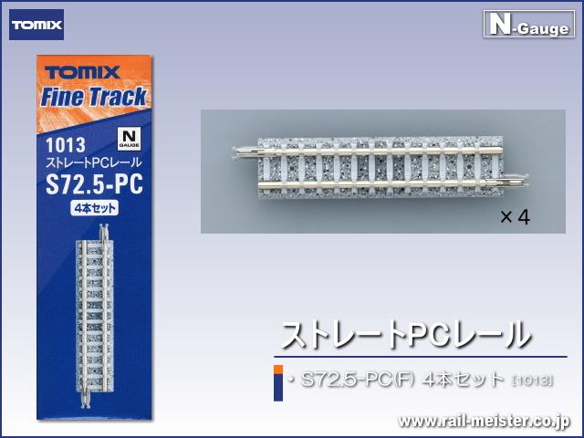 トミックス ストレートPCレール S72.5-PC(F) 4本セット[1013]