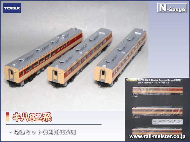 トミックス 国鉄キハ82系 増結セット(3両)[98270]