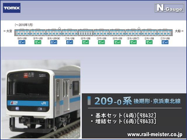 トミックス JR209-0系 後期形・京浜東北線 基本(4両)+増結(6両) 10両組[98432/98433]