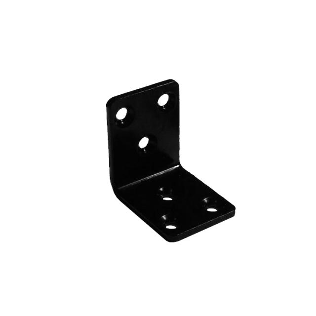 金折厚口巾広 S40黒色スチール製ビス付